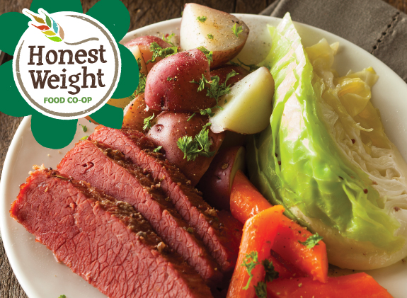 Corned Beef plate with potatoes and veggies