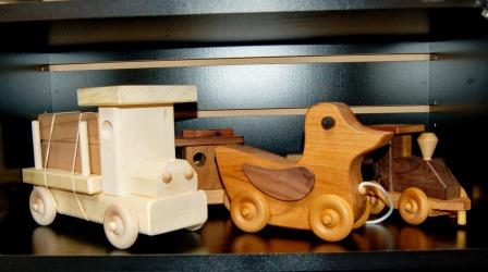 Hand made, children's wooden toys