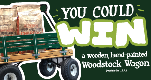 You could win a wooden, hand-painted Woodstock wagon (made in the USA)