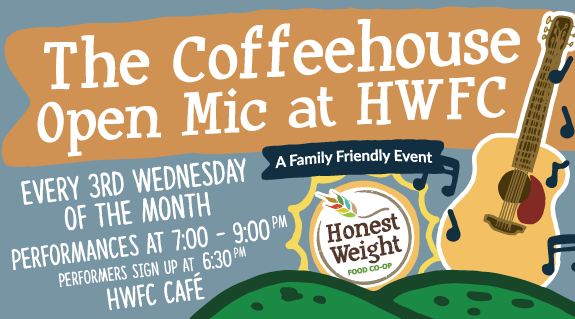 Honest Weight's Coffeehouse Open Mic illustration