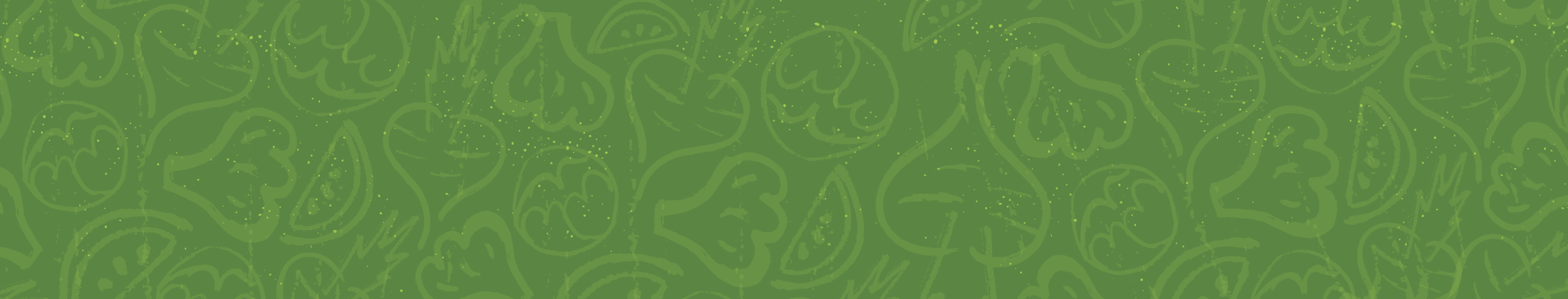 Green background with vegetable illustrations overlaid